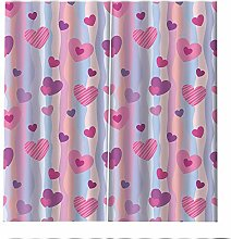 PERFECTPOT Blackout Curtains Pink Love Window