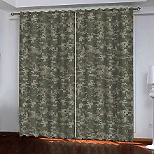 PERFECTPOT Eyelet Blackout Curtain Camouflage
