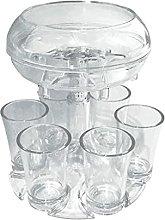 perfk 6 Shot Glass Dispenser and Holder for