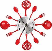 perfk Kitchen Utensil Clock-Toned Forks, Spoons,