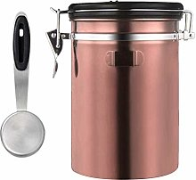 perfk Stainless Steel Coffee Canister Airtight
