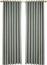 Perforated full blackout curtain, gray 100*130 two