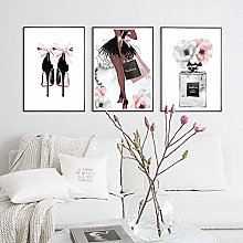 Perfume Bottle Poster Nordic Wall Art Fashion High