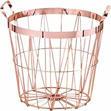 PerGrate Round Iron Wire Storage Basket with