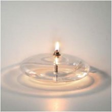 Peri Glass - S 10 cm Disc Shape Oil Lamp - glass |