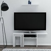 Peri TV Stand with Coffee Table, Doors, Shelves -