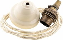 Period Ceiling Pendant Kit with Ivory Rose,