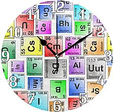 Periodic Table Of Elements Wall Clock Silent Non