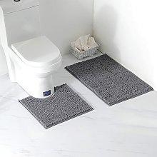 Perle Raregb - 2 Piece Bath Mat / Toilet Mats Set,