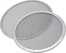 Perle Raregb - 2 Pieces Aluminum Round Pizza Mesh