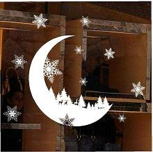 Perle Raregb - 2 Pieces Snow Moon Static Wall