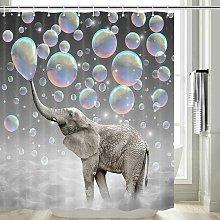 Perle Raregb - Elephant Shower Curtain, Mildew