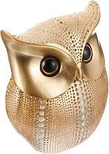 Perle Raregb - Owl statue decoration golden metal
