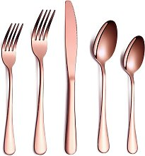 Perle Raregb - Set of cutlery, 20 pieces stainless
