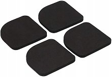 Perle Raregb - Shock absorbing washer, black washing machine foot mat, overall rubber carpet for washing machine, refrigerator dryer, treadmill, accessories for large appliances (4 pcs)
