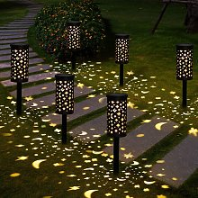 Perle Raregb - Solar Lamps Garden 6 Pieces Solar