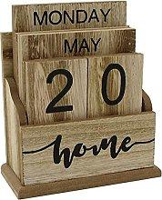 Perpetual Calendar Wooden Flip Desk Blocks