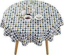 Persdico Nordic Polyester Cotton Round Tablecloth