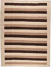 Persian Qashgai Stripe Kilim Rug Flat Weave 240 x
