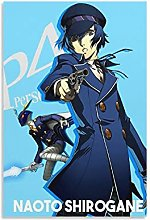 Persona 4 Naoto Shirogane Canvas Art Poster and