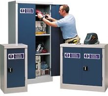 Personal Protective Equipment Cupboards, Blue,
