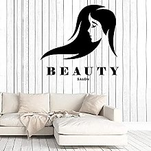 Personalise Wall Stickers Beauty Salon Hairstyle