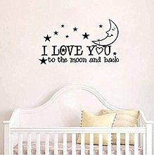 Personalise Wall Stickers I Love You to The Moon