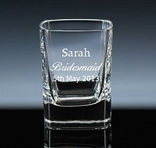 Personalised 2oz Square Crystal Shot Glass