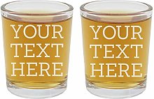 Personalised 2pk Etched Custom Message Shot