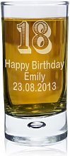 Personalised Any Age Bubble Shot Glass