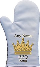 PERSONALISED BBQ KING PRINT OVEN MITT OVEN GLOVE