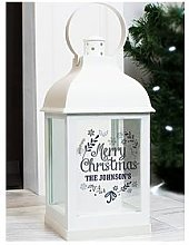 Personalised Black Christmas Lantern