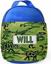 Personalised Childrens Dinosaur Lunch Bag School