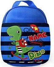 Personalised Childrens Dinosaur Skater Lunch Bag
