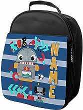 Personalised Childrens Robot Lunch Bag School
