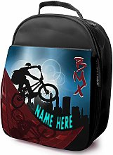 Personalised Childrens School Lunch Bag - BMX Bike