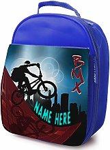 Personalised Childrens School Lunch Bag - BMX Bike