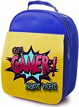 Personalised Childrens School Lunch Bag - Gamer