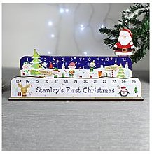 Personalised Christmas Advent Countdown Decoration