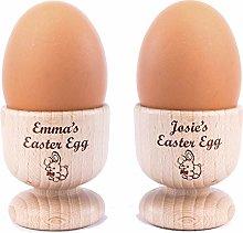 Personalised Custom Wooden Egg Holder - Pack of 2