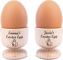 Personalised Custom Wooden Egg Holder - Pack of 2