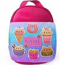 Personalised Cute Kitten School Lunch Bag -