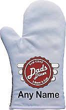 PERSONALISED DADS DINER PRINT OVEN MITT OVEN GLOVE