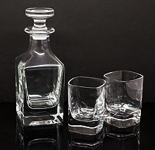 Personalised Decanter With Two 50ml Whisky Shot