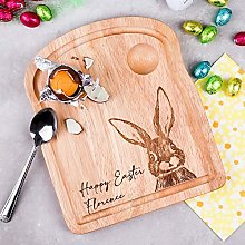 Personalised Dippy Egg Board Easter Bunny Egg Cup