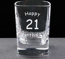 Personalised Engraved 2oz Square Crystal Shot
