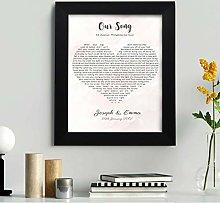 Personalised First Dance Wedding Song Lyrics Heart