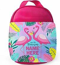 Personalised Flamingos School Lunch Bag -