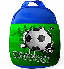 Personalised Football Art School Lunch Bag