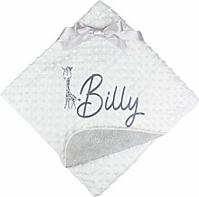 Personalised Giraffe Neutral White Bubble Baby